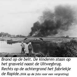 Brand in de vuilnisbelt van Krommenie