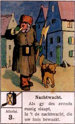 Piet Visser, nachtwacht in Krommenie in de 19e eeuw